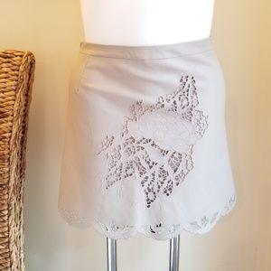 NWT BCBGMaxAzria Jenhifer Faux Leather Mini Skirt